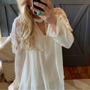 Lace sleeve detail Bohemian Blouse